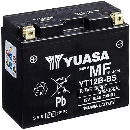 Motorrad Batterie Yuasa Yt12b Bs Wc Agm Geschlossen 12v 10ah Cca 210a 150x69x130mm Auto