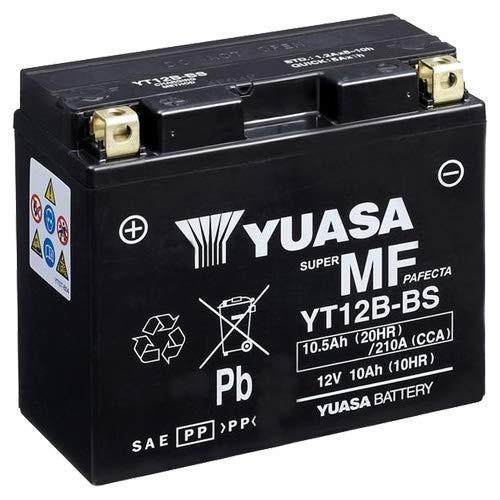 Batterie YUASA YT12B-BS, 12V/10AH (Maße: 150x69x130) für Ducati 1200 Multistrada Baujahr 2011