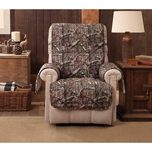 Break-up Infinity Recliner Slipcover - Wing Chair Brown Wildlife Rustic