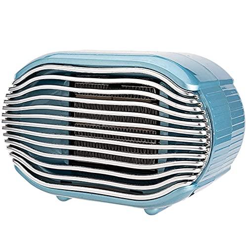 Calentador De Patio Eléctrico Portátil, Calefacción Por Infrarrojos De Escritorio, Calentador De Ventilador De Cerámica PTC De 800 W, Calentadores De Ajuste De Varias Velocidades,Azul