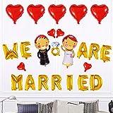 SMAQZ Jeu de Ballon, Jeu de Ballon décoratif Mise en Page de Mariage créatif Mariage Chambre Mise en Page.Section B