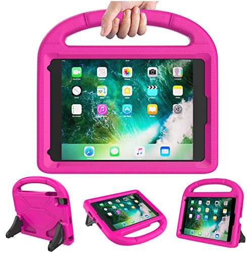 Tioatsky Kids Case for iPad Mini 1 2 3 4 5 - Handle Shockproof Lightweight Protective Durable Stand Cover for Apple 7.9 inch iPad Mini 5th (2019),Mini 4,Mini 2,iPad Mini 3rd Generation (Pink)