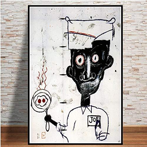 YWOHP Arte Callejero Abstracto Pintura en Lienzo Carteles e Impresiones imágenes decoración del hogar de Artistas Modernos Obras de arte-50X70cm_Unframed_DM265-9