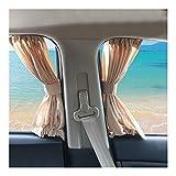 2pcs / set aleación de aluminio de la ventana de coche elástico lateral Parasol Cortinas automático de Windows Cortina parasol Persianas cubierta del coche-estilo (Color : Gray)