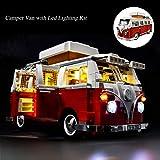 Beleuchtungsset für Lego 10220, LED-Beleuchtungsset Kompatibel mit (Creator Series Volkswagen T1 Reisemobil) Bausteinmodell (NICHT im Lieferumfang des Modells enthalten)