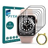 FITA [9 piezas] Protector de Pantalla Compatible con Apple Watch Series SE/6/5/4 40mm /3/2/1 38mm...