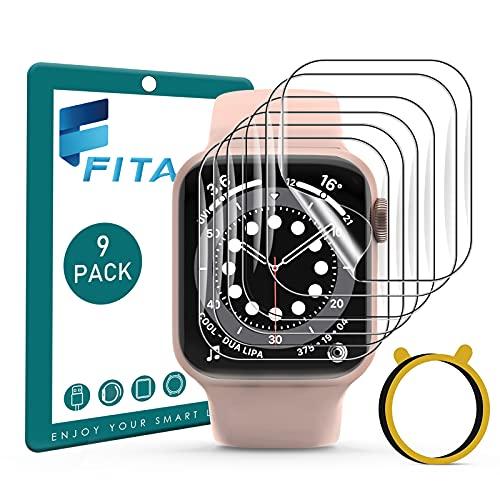 FITA [9 Stücke] Schutzfolie Kompatibel mit Apple Watch Series SE/6/5/4 40mm /3/2/1 38mm (NICHT für 42/44mm), Anti-Kratzen Kristallklar Folie Displayschutzfolie Kompatibel mit iWatch Series 38mm/40mm