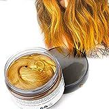 Color Cabello Cera Tinte Instantáneo para Cabello Lodo Cabello Desechable Crema para Peinado Natural Modelado Temporal Pomada Arcilla Dorado