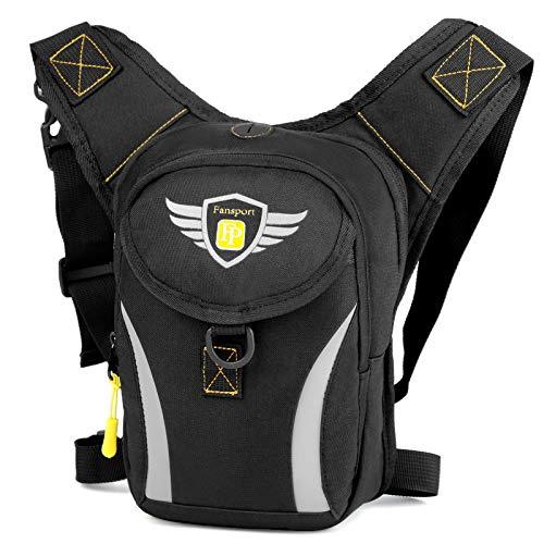 Fansport riñoneras de Pierna Bolsa de Cintura Hombre Moto,Fanny Waist Pack Bolso Pierna Moto Hombre Cintura Accesorio para Pernera Moto Impermeable