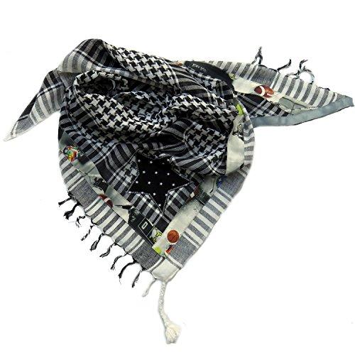 Farbgewitter Palituch Halstuch Stern schwarz 150 cm