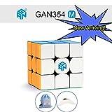 OJIN GAN354 M 3x3 Geschwindigkeit Cube Ganspuzzle GAN 354 M 3x3x3 Magnetische Magic Cube Puzzles Glatte Gehirn Teaser Spielzeug mit Einem Angepasstem Stativ und Tasche (Stickerless)