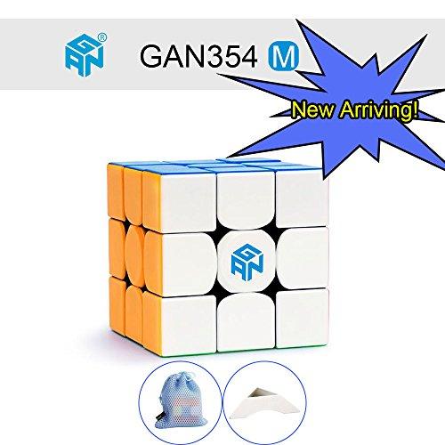 OJIN GAN354 M 3x3 Speed Cube Ganspuzzle GAN 354 M 3x3x3 Magnetic Magic Cube Puzzles Smooth Brain Teaser Juguetes con un trípode y Bolsa Personalizados (Sin Etiqueta)