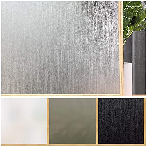 Privacy Window Film No Glue Frosted Glass Sticker for Home Office Static Anti-UV...