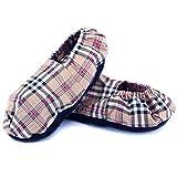 Zapatillas Térmicas de Semillas - Pantuflas Calientapiés Calentar en Microondas (Talla Única) - Bolsa de Calor para Pies Fríos con Funda Lavable, Tela de Algodón 100% y Olor a Lavanda (Oxford)
