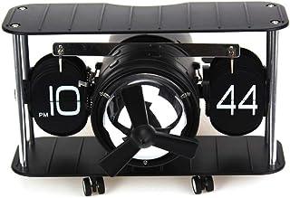 WHSS Horloge à rabat en forme d'avion - 21 x 8 x 16 cm - Réveil - Couleur : noir