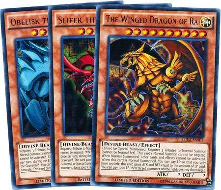 Yu-Gi-Oh 3 God Cards! All Rare 30 Card Lot