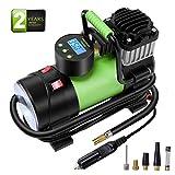 Azoran Elite Digital Tire Inflator - 12-Volt Portable Auto Air Compressor with Work Light and Precise Preset Gauge