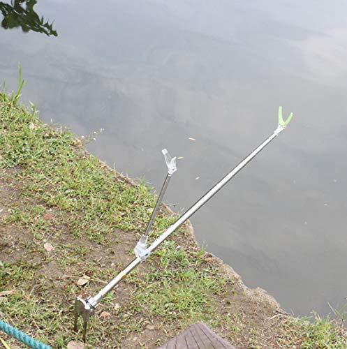 yidenguk Rutenhalter Fischerboot Ruten-Halter Rutenständer Bootszubehör Rod Pod Rutenauflage 180 Grad einstellbar Angelrute Racks Halter River Beach Lake Angeln für alle Arten von Angelruten.