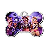Personalized Pet Id Tags for Dogs and Cats Five Nights at Freddy's 22 Funny Custom Zinc Alloy with Double-Sided Printing
