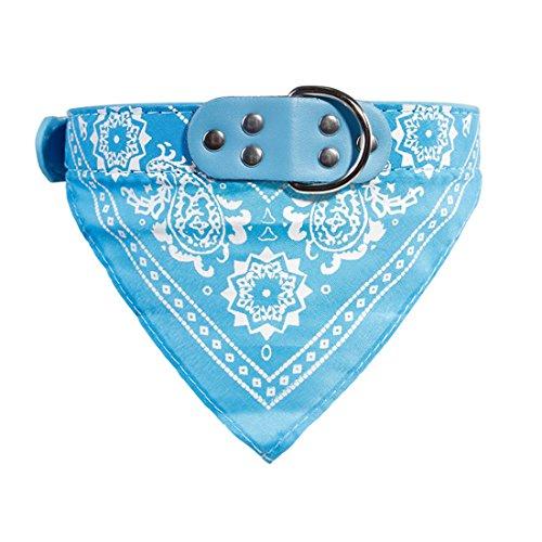 Ericoy Hond Puppy Huisdier Verstelbare Gedessineerde Nek Sjaal Bandana Kraag Halsdoek (Blauw S), XXL, Lichtblauw