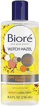 Bioré Witch Hazel Pore clarifying Toner, 8.0 Oz, With 2% Salicylic Acid for Acne Clearing & Balanced Skin Purification
