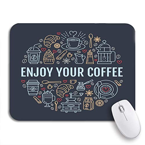 Gaming Mouse Pad Kaffeezubereitung Brewing Line Circle für Kaffeemaschine French Press Rutschfeste Gummiunterlage Computer Mousepad für Notebooks Mausmatten