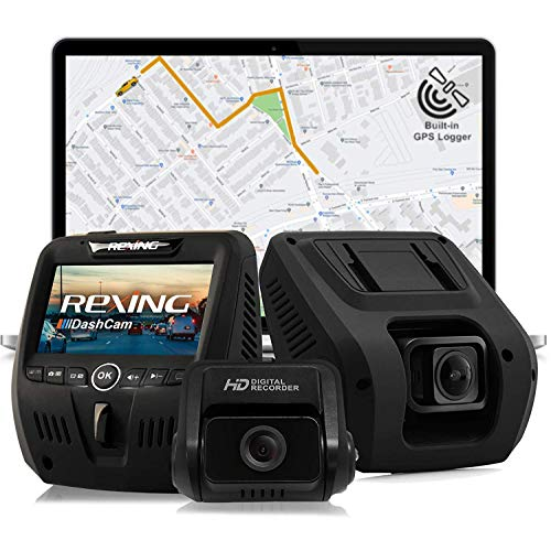 Rexing V1LG Dual Channel Car Dash Cam FHD 1080p 170° Wide Angle...