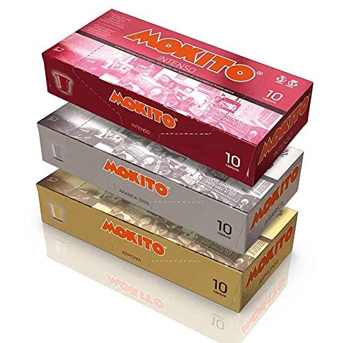 MOKITO CAPSULE CAFFE' - 120 Capsule Compatibili Nespresso - 40 Miscela 100% ARABICA - 40 Miscela ARMONIA - 40 Miscela INTENSO