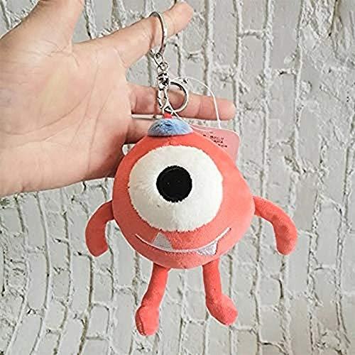 Makfacp Llavero de Peluche de 15 cm con Ojos Grandes, Lindo Llavero para Mascotas, pequeño muñeco de Peluche de Dibujos Animados, Monstruo, Bolsa de Coche, Mochila Colgante