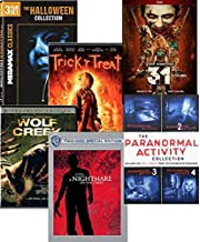 Halloween Set 11-Movies on DVD: Halloween 3-Movies / Trick 'r Treat / 31 - Rob Zombie / A Nightmare on Elm Street / Wolf Creek / The Paranormal Activity Collection 1-4