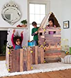 make your own tent - Fantasy Fort Kit Pretend Play Construction Building Set Indoor Playhouse Heavy Duty Faux Wood Panels Each Panel 22 x 22 Inches 32 Pieces
