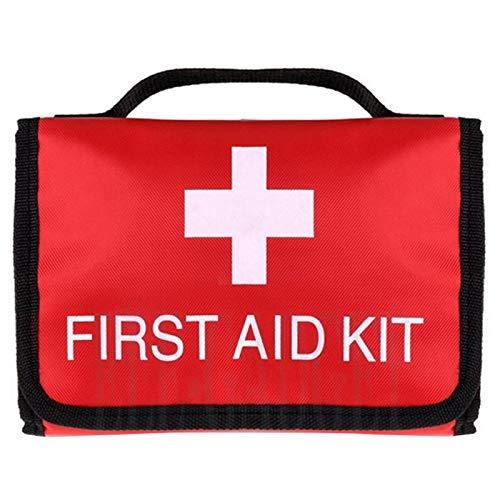 JISKGH Kit de Primeros Auxilios PortáTil al Aire Libre a Prueba de Agua Bolsa de Alta Capacidad Plegable para Tratamiento de Emergencia en Viajes o Campamentos
