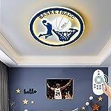 LED Kinderzimmerlampe I Deckenleuchte Basketball I Schlafzimmerlampe I Rund Deckenlampe I Dimmbar mit Fernbedienung I Cartoon Kinderlampe für Jungen Mädchen I Warmweiss-Kaltweiß I Ø50 cm