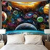 Tapisserie Wandbehang Home Decor Wandteppiche Wandkunst für Zimmer Bunte Sternenhimmel hängende Stoffkunstwand