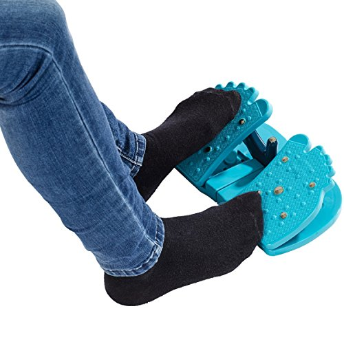 Unbekannt Fuß-Trainer, trainiert Füße & Beine, intergrierter Magnet, blau, 27 x 15 x 9 cm