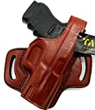 HOLSTERMART USA TAGUA Right Hand Classic BH1 Brown Leather Thumb Break OWB Belt Holster for Glock 30 30s 30sf, 3.78' Barrel