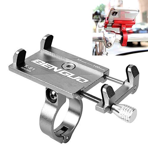NoNo Autotelefoonhouder voor motorfiets, motorfiets, veer golf QC3.0 laadstation aluminiumlegering telefoon Bracket-zwart zilver