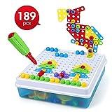 LBLA Juguetes Montessori Puzzles 3D Tablero de Mosaicos Infantiles Juegos Educativos Regalos para Niños de 3 4 5 Años, 189Piezas