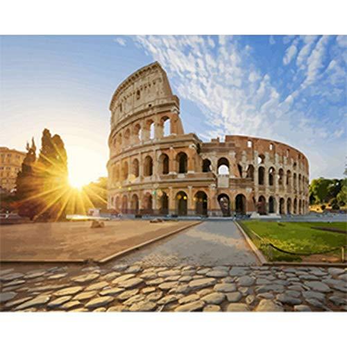 Italia pintura por números Roma DIY pintura digital por número moderno arte de la pared lienzo acrílico pintado regalo único decoración del hogar A3 45x60cm