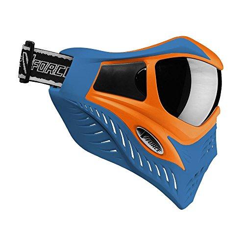 V-FORCE Grill Paintball Mask / Goggle - SE - Orange on Blue