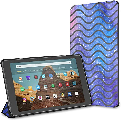 Case For Chevron Galaxy Waves Fire Hd 10 Tablet (9th/7th Generation, 2019/2017 Release) CaseForATablet10Inch FireHd10CaseForBoys Auto Wake/sleep For 10.1 Inch Tablet