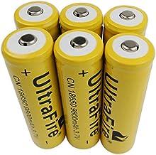 18650 oplaadbare Li-ion-accu, 6 x 3,7 V, 18650 oplaadbare batterijen, 9800 mAh, voor led-zaklamp, RC accu