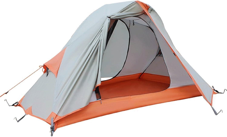Lhr Campingzelt, Kuppel Wasserdichte Zelte, tragbares Campingzelt, Outdoor-Zelt Einzel Doppel Aluminium Pole Camping Anti-Sturm Regen Camping