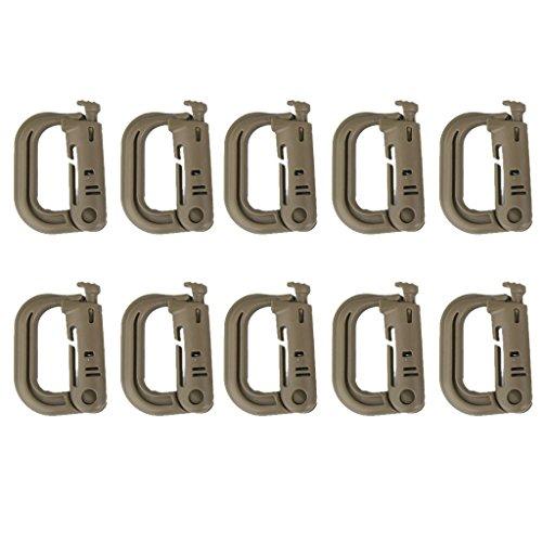 10 pieza fuerte en forma de D mosquetón Clip de seguridad Táctica...