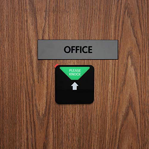 Kichwit Privacy Sign, Do Not Disturb Sign, Out of Office Sign, Please Knock Sign, In a Meeting Sign, Office Sign, Conference Sign for Offices, Squared Shaped, 4.9 Inch, Black Photo #7