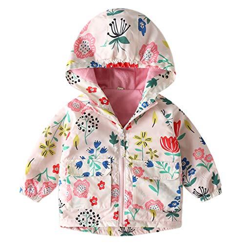 Bebé Chaqueta Cortavientos con Encapuchado Abrigos de Lana Niños Niñaas Chaquetas de Abrigo CáLido Primavera Otoño Ropa Bianca 2-3 Años