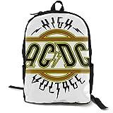 Acdc Classic - Mochila escolar para niños y niñas, con bolsa de almuerzo, color azul