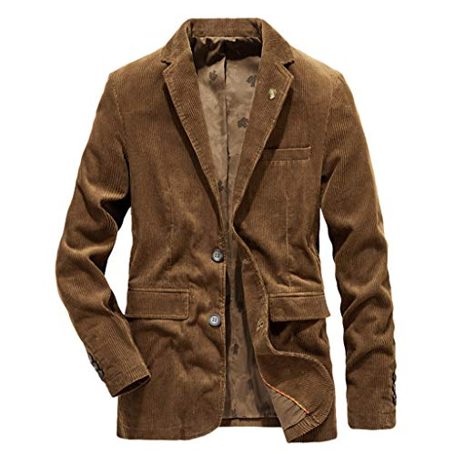 Lars Amadeus Men's Party Animal Leopard Print Blazer Notched Lapel Lightweight Sport Coat Suit Jacket Small Brown