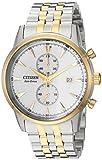 Citizen Men's 'Eco-Drive' Quartz Stainless Steel Dress Watch, Color:Two Tone (Model: CA7004-54A)