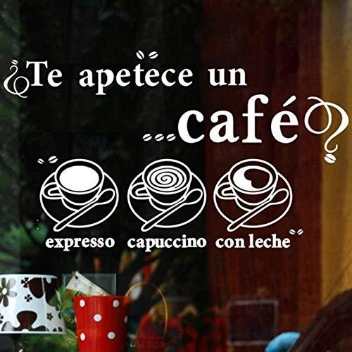 Olivialulu Melk Thee Koffiebar Café Ijs Brood Taart Keuken Muur Kunst Afneembare Stickers Decals DIY Home Decoratie Mural Decoratie 35 * 100Cm Aanpasbaar